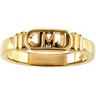 Jesus, Mary and Joseph Ring (JMJ) 5 to 6mm Width Ref 723136
