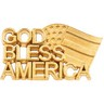God Bless America Lapel Pin 20.5 x 11.5mm Ref 511188
