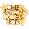 One Nation Under God Lapel Pin 14 x 19mm Ref 734083