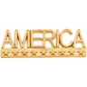 America Lapel Pin 7.5 x 22.5mm Ref 408414