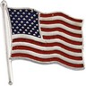 American Flag Lapel Pin 17.5 x 17mm Ref 339092