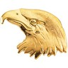 Gold Bald Eagle Head Lapel Pin 11.5 x 26mm Ref 561867