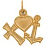 Faith, Hope, & Love Pendant | Height: 10.0mm; Width: 13.5mm | SKU: R41359